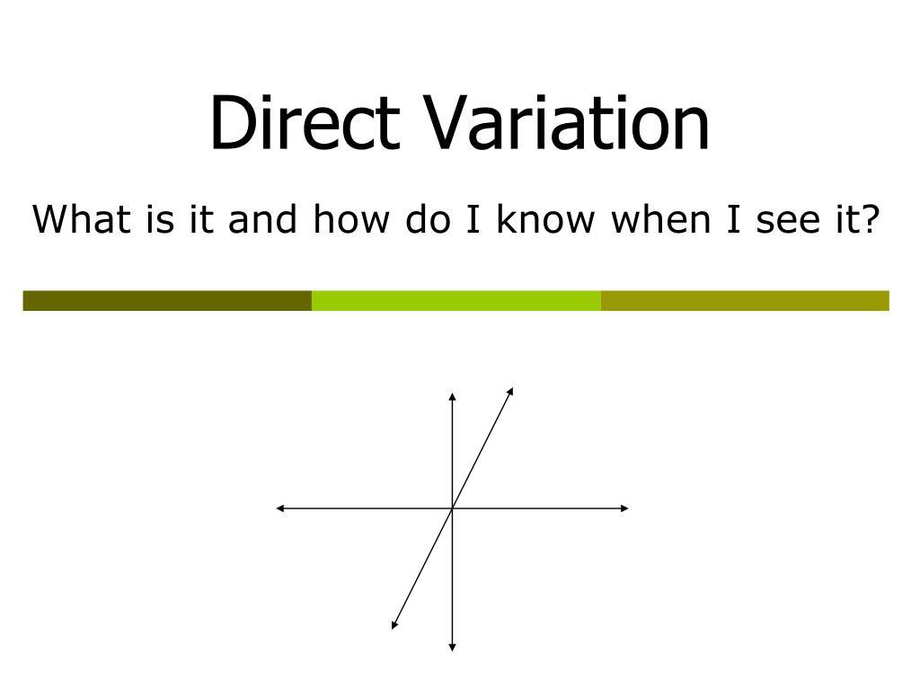 direct variation l.