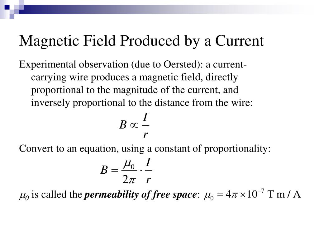 Magnetic Field Produced by a Current