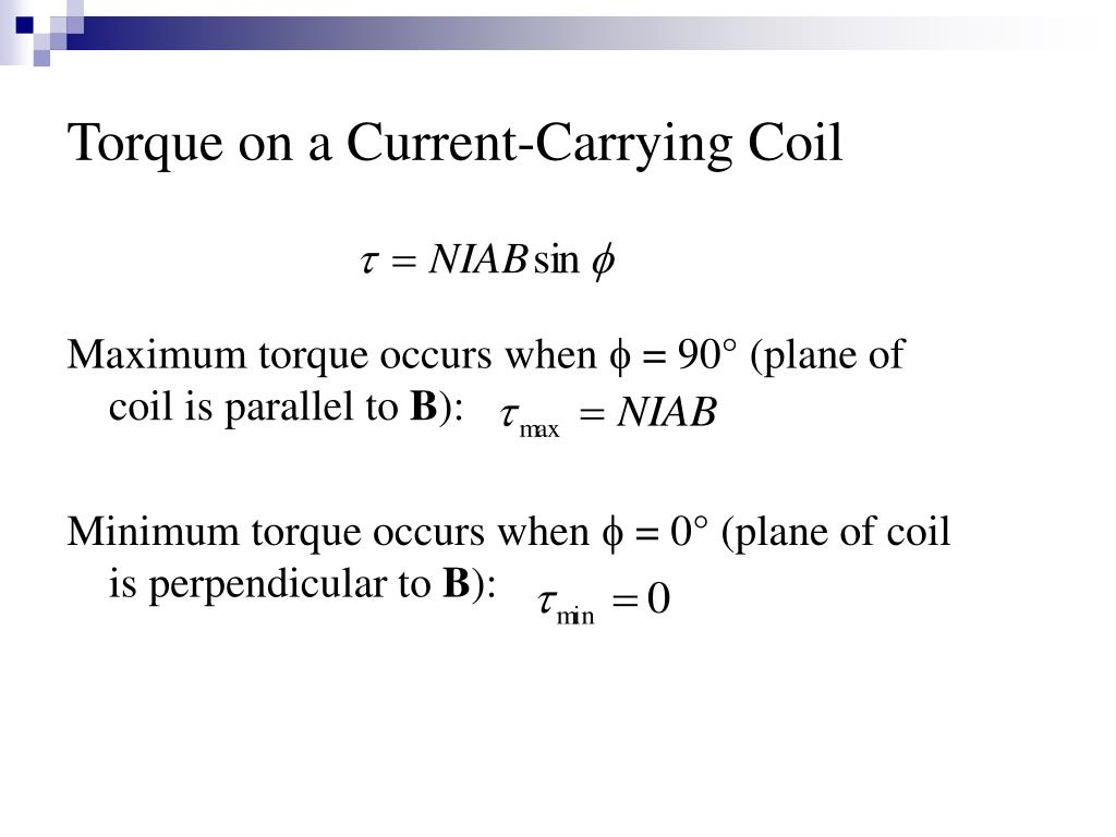 Torque on a Current-Carrying Coil