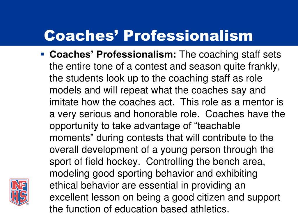 Coaches' Professionalism