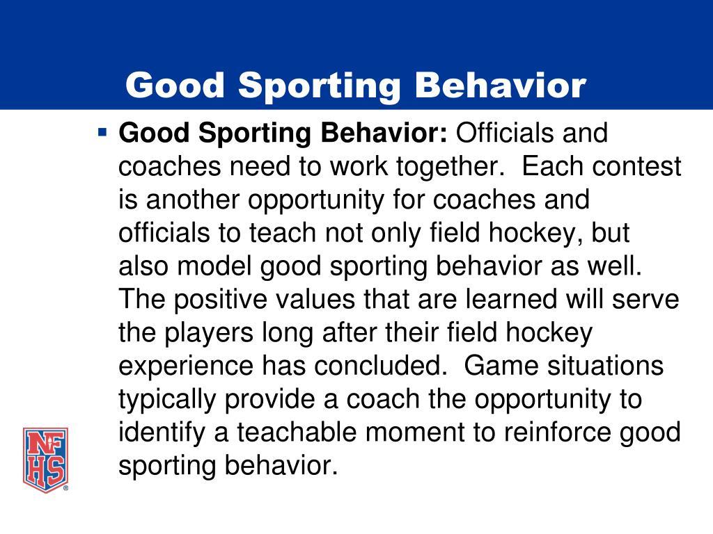 Good Sporting Behavior