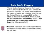 rule 1 4 3 players