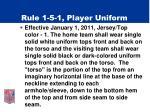 rule 1 5 1 player uniform