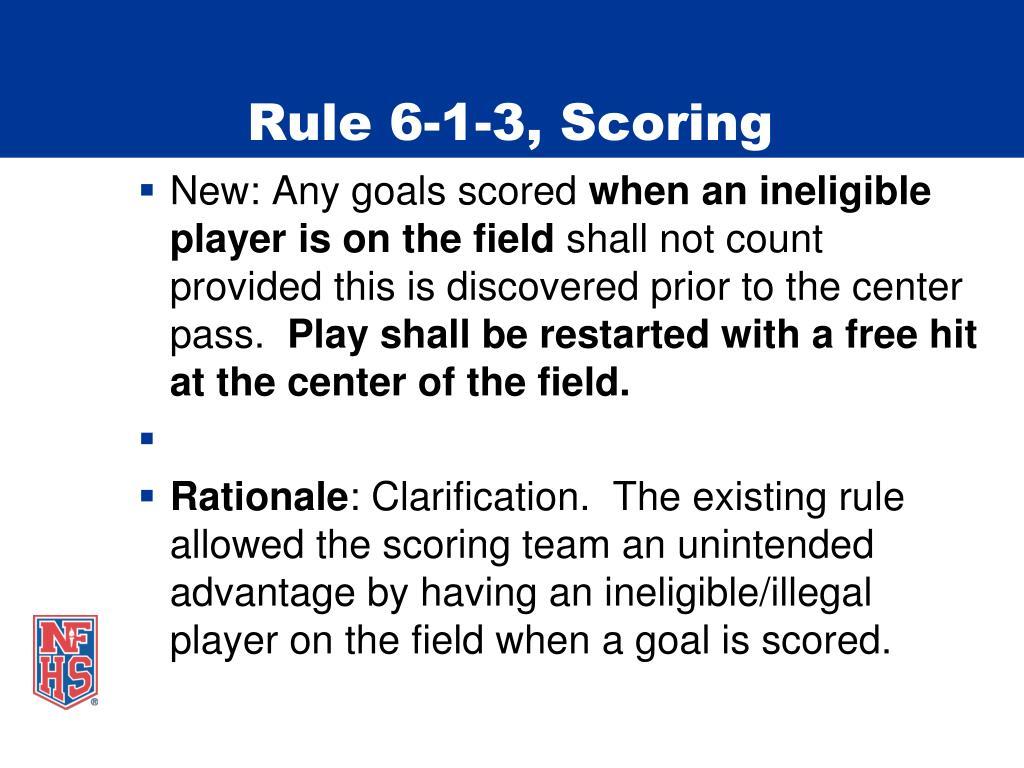 Rule 6-1-3, Scoring