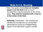 rule 6 1 3 scoring