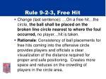 rule 9 2 3 free hit
