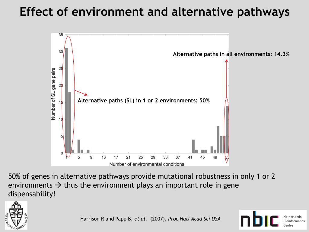 Effect of environment and alternative pathways