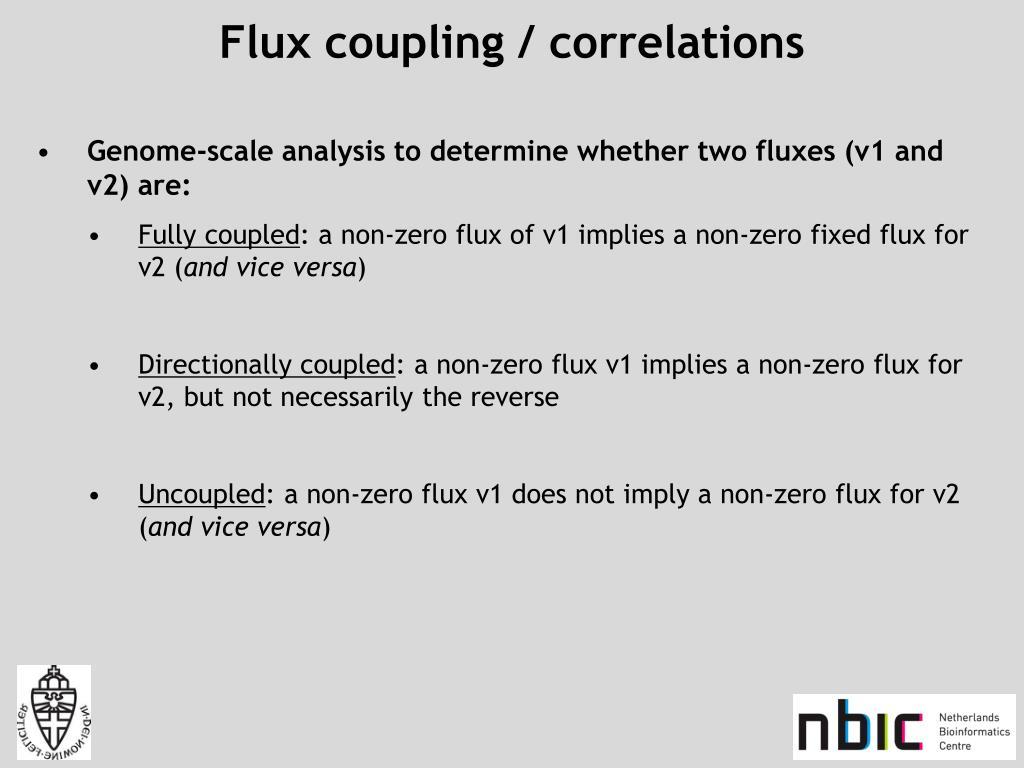 Flux coupling / correlations