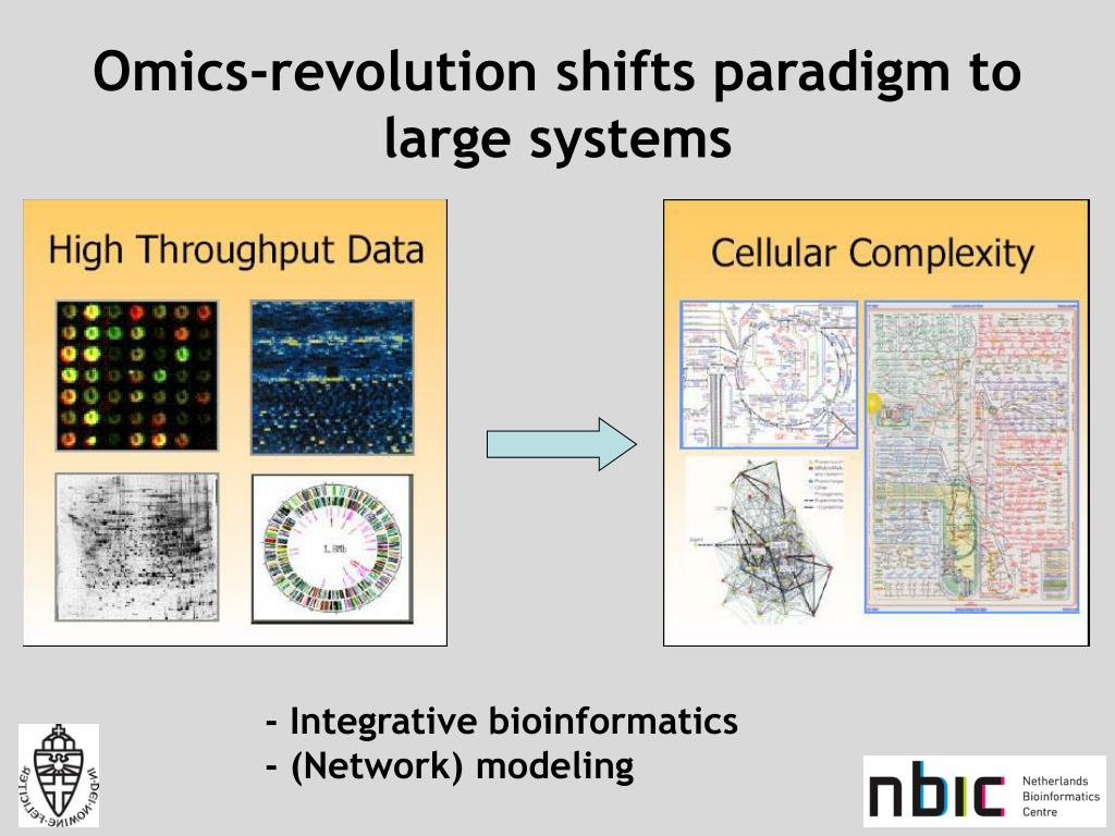 Omics-revolution shifts paradigm to large systems