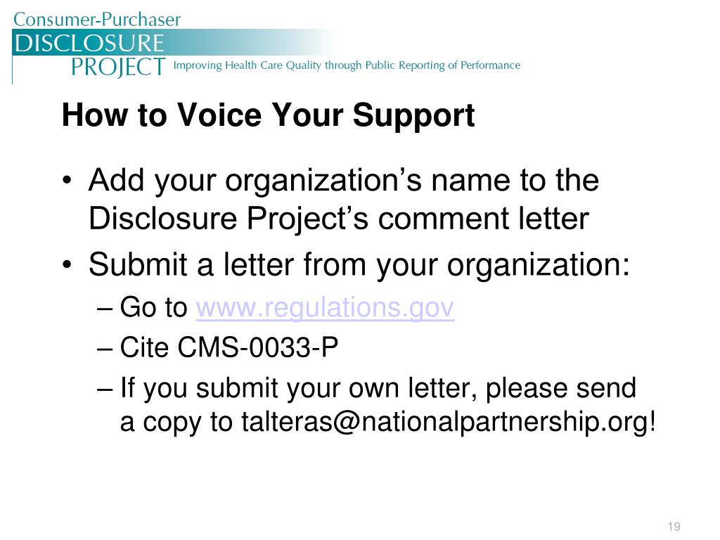How to Voice Your Support