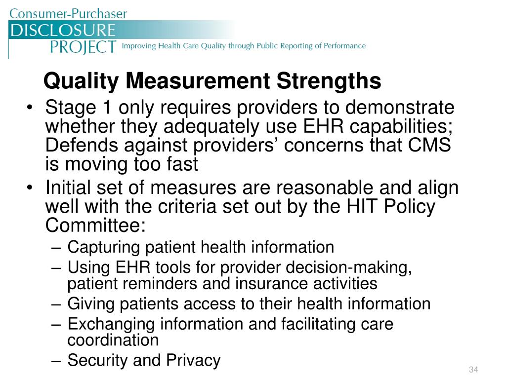 Quality Measurement Strengths