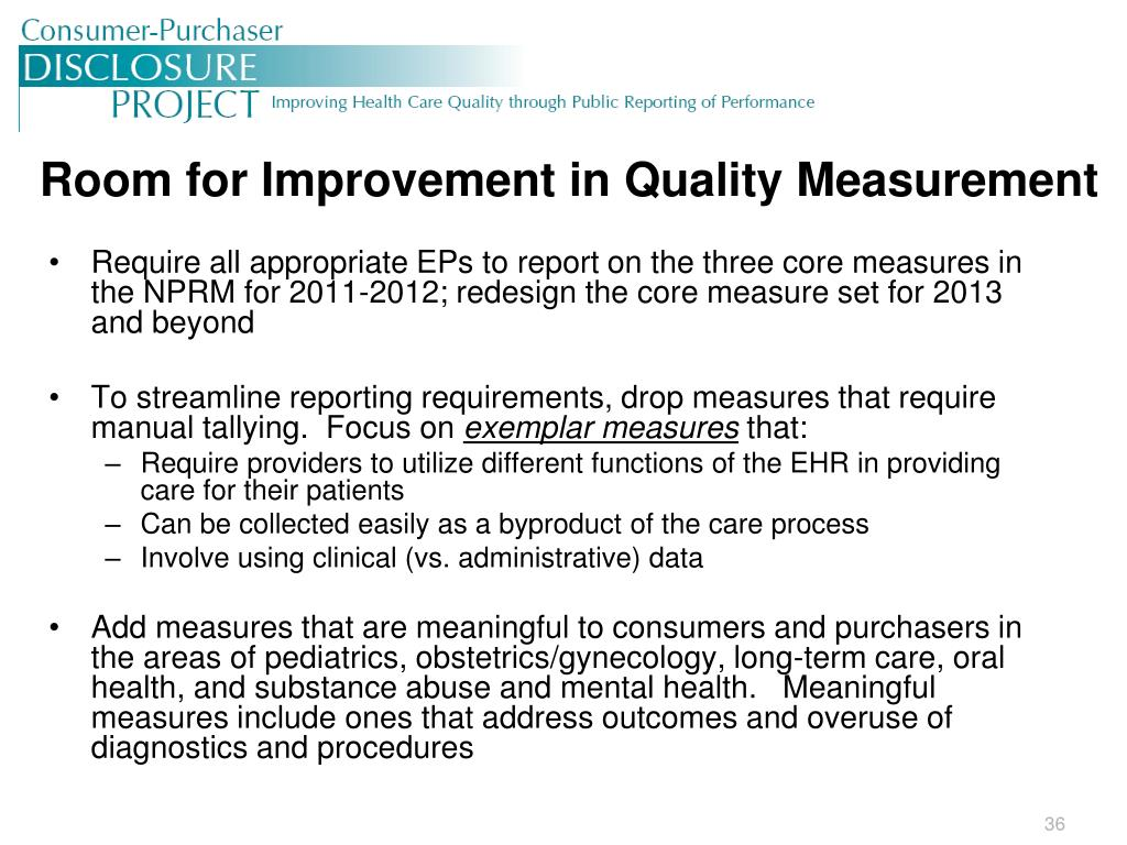 Room for Improvement in Quality Measurement
