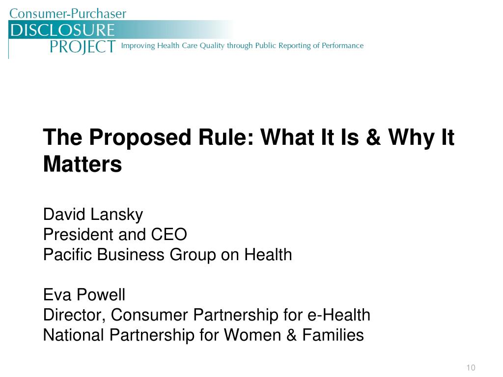 The Proposed Rule: What It Is & Why It Matters