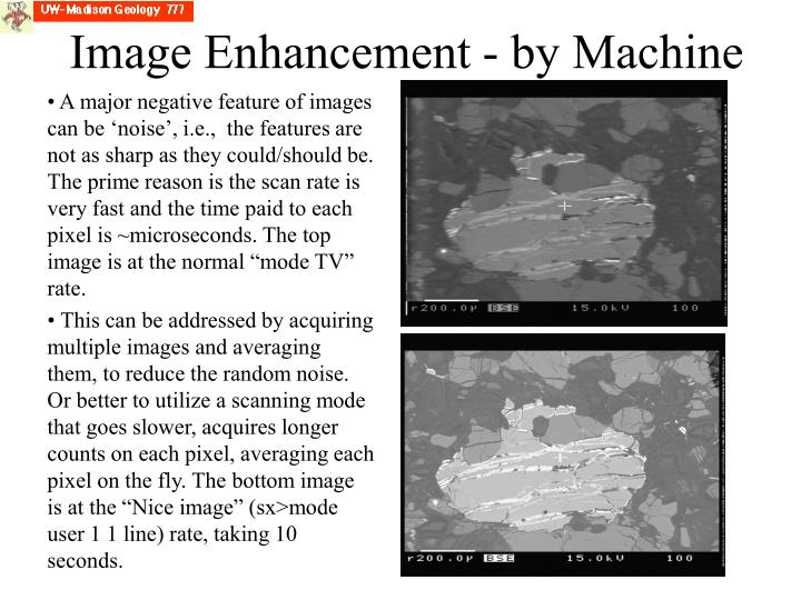 Image Enhancement - by Machine