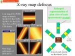 x ray map defocus