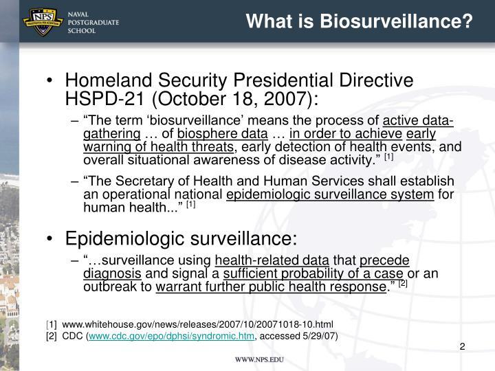 What is biosurveillance