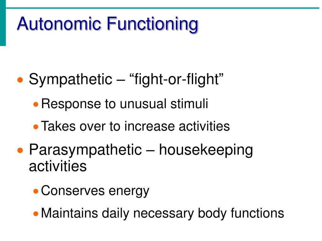 Autonomic Functioning