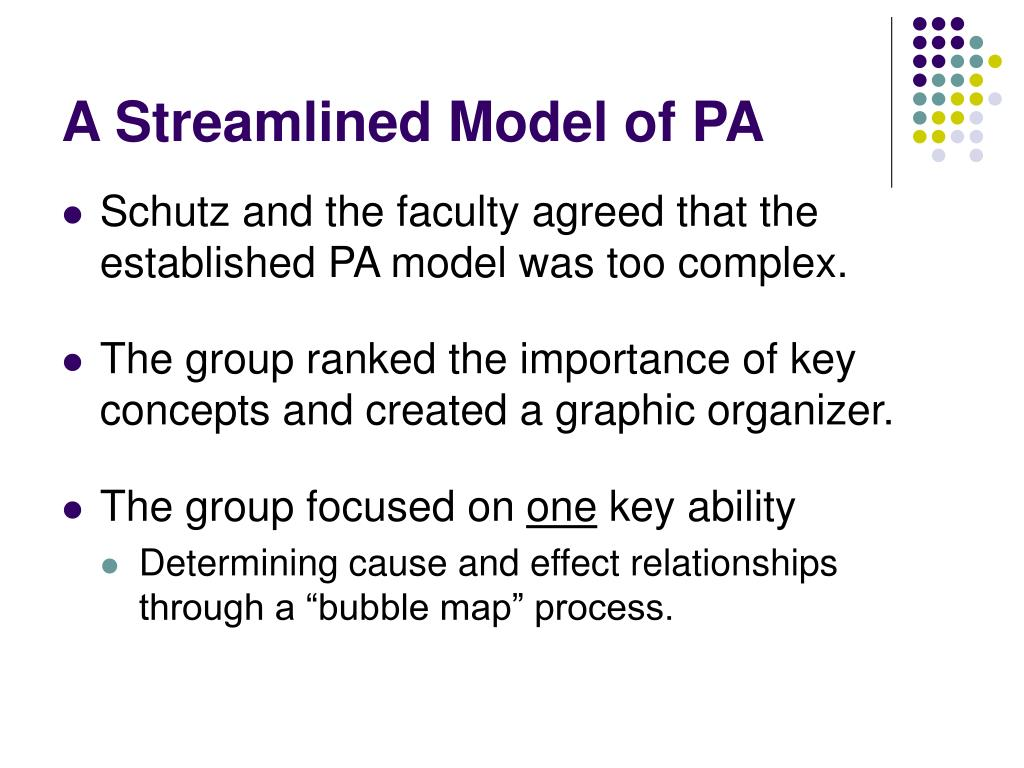A Streamlined Model of PA