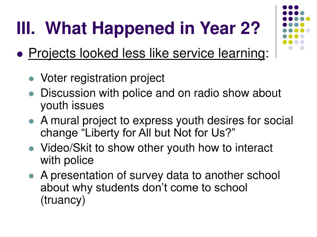 III.  What Happened in Year 2?