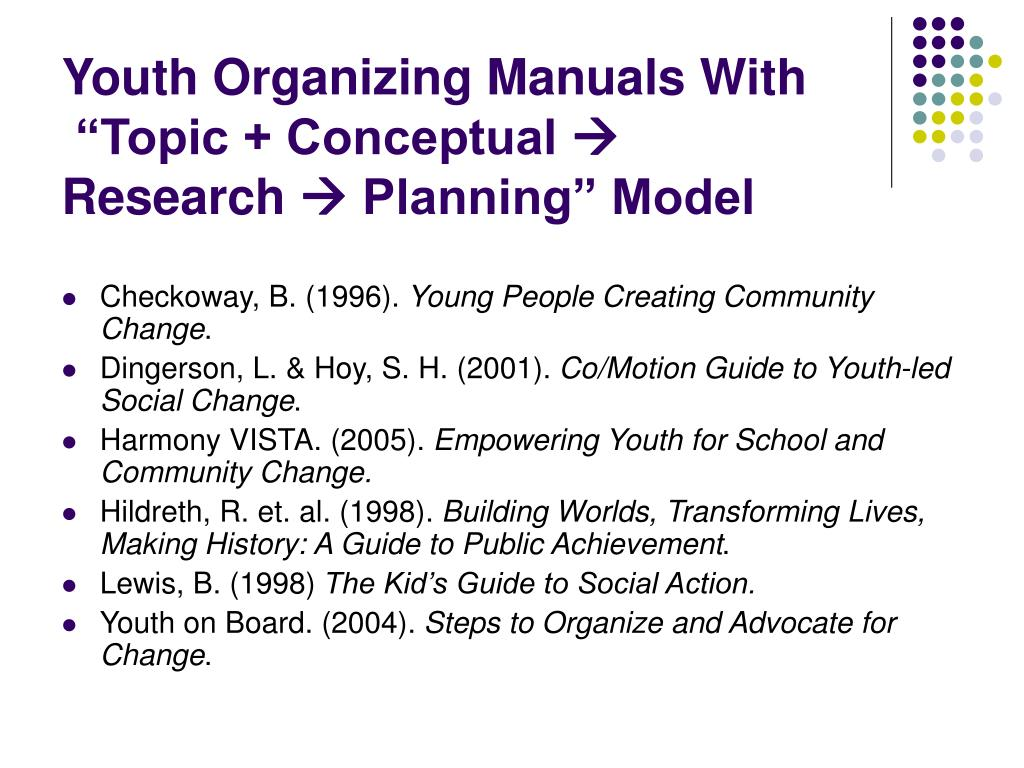 Youth Organizing Manuals With