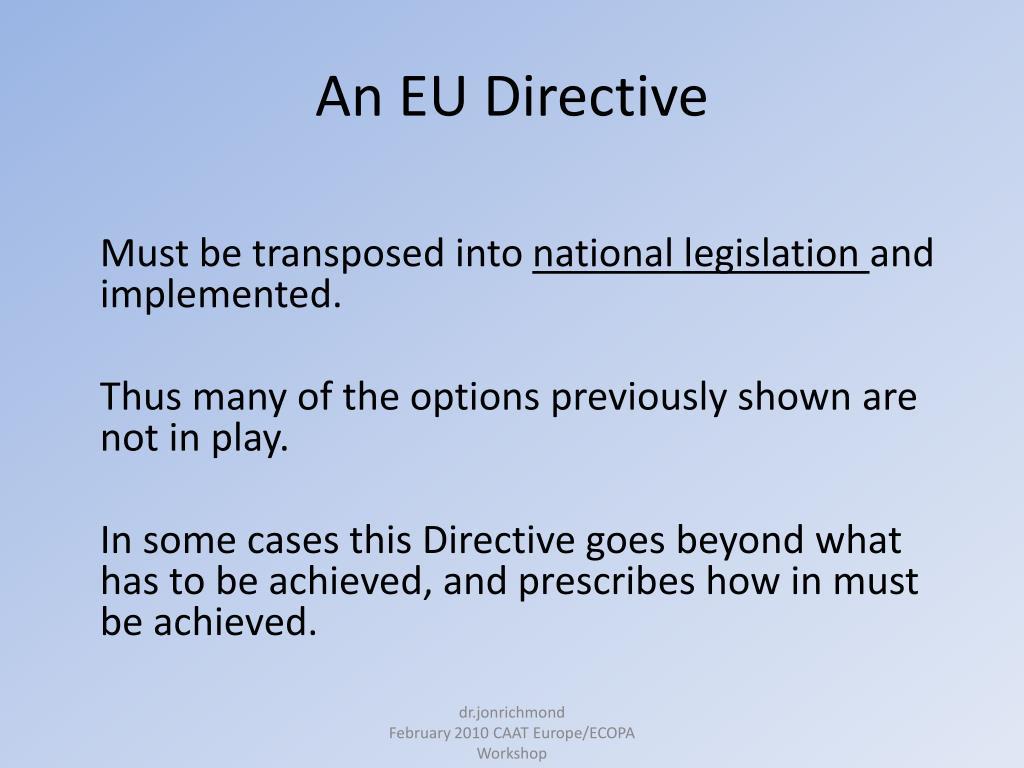 An EU Directive