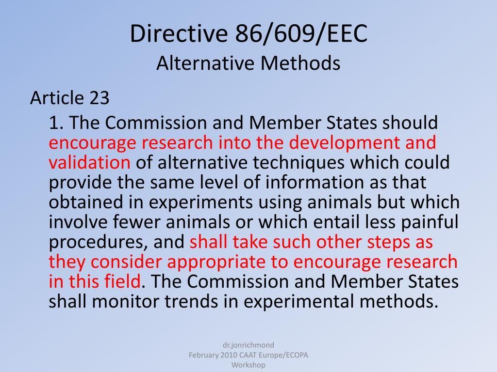 Directive 86/609/EEC