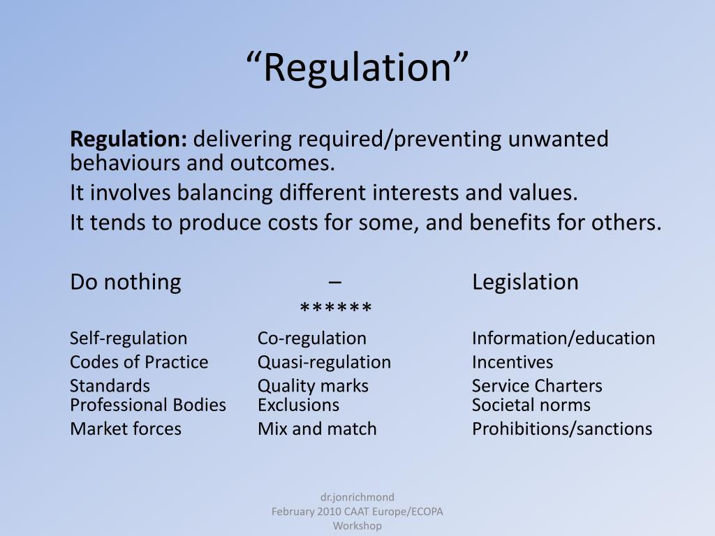 """""""Regulation"""""""
