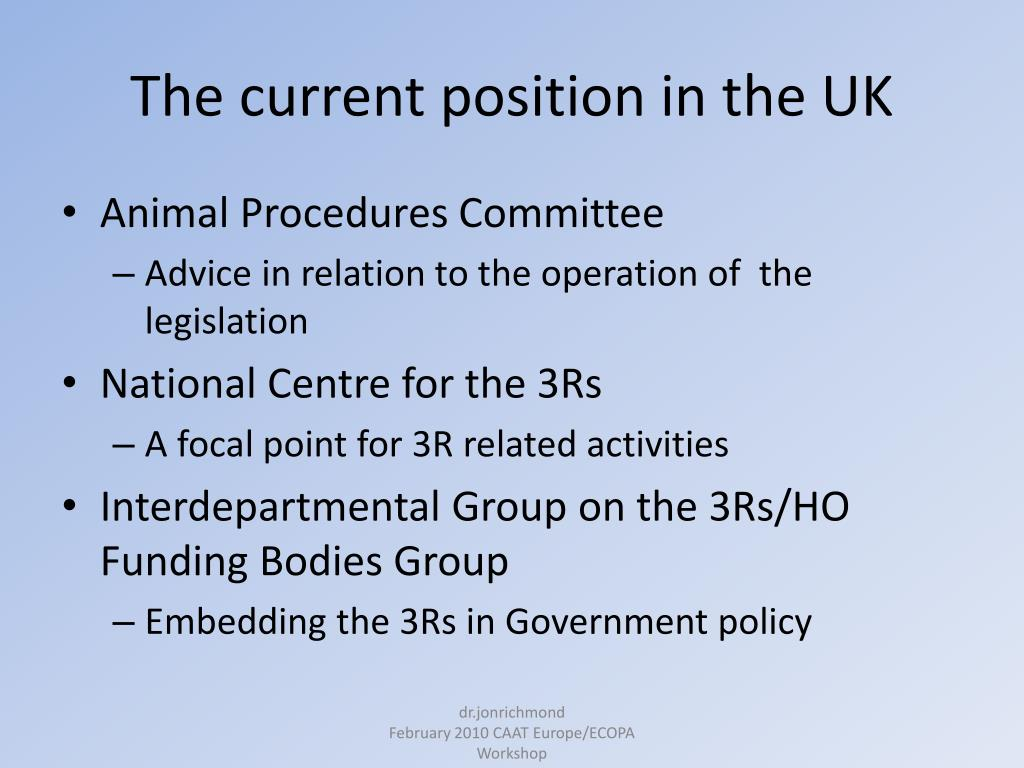 The current position in the UK