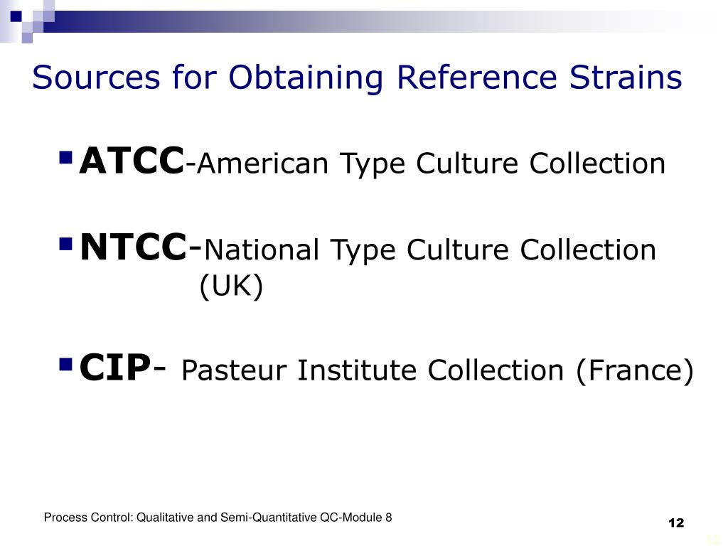 Sources for Obtaining Reference Strains