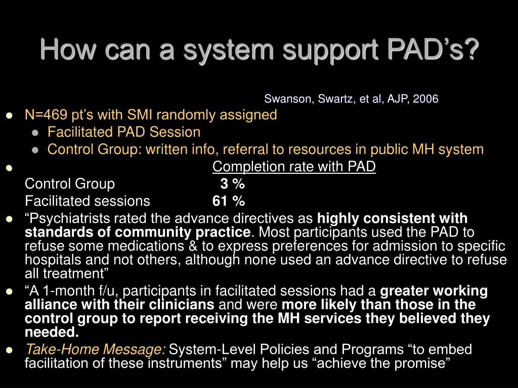 How can a system support PAD's?