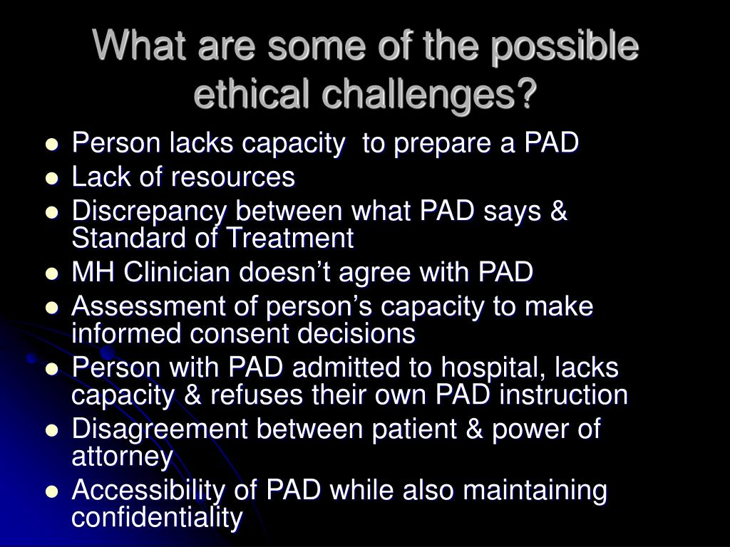 What are some of the possible ethical challenges?