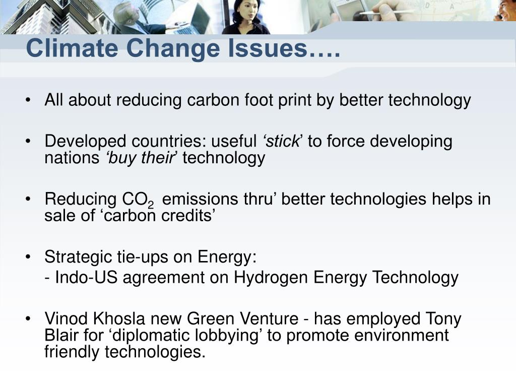 Climate Change Issues….