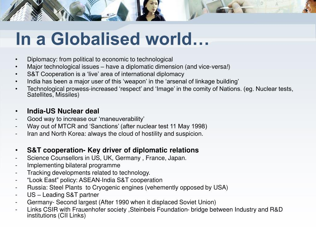 In a Globalised world…