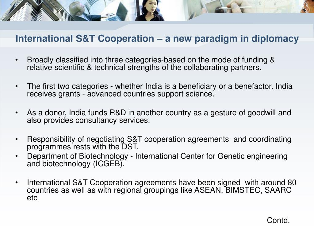 International S&T Cooperation – a new paradigm in diplomacy
