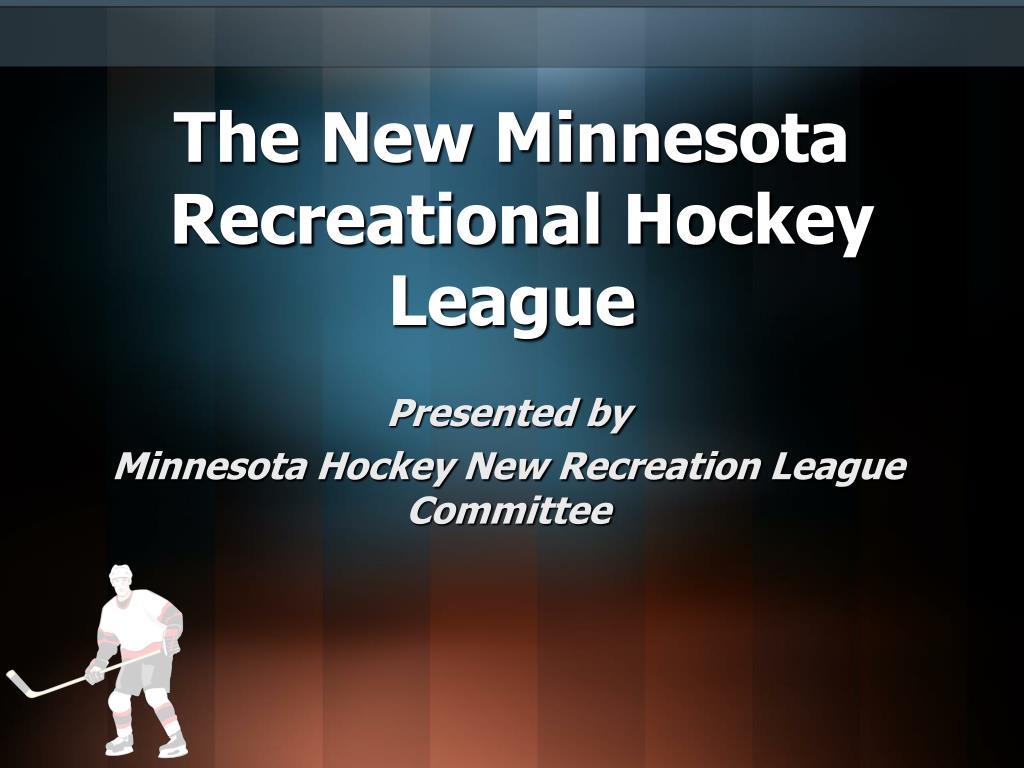 the new minnesota recreational hockey league l.