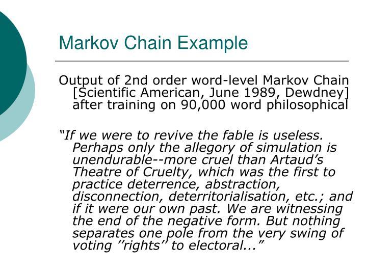 Markov Chain Example