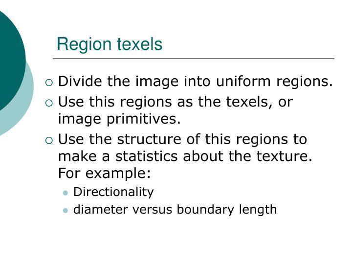 Region texels