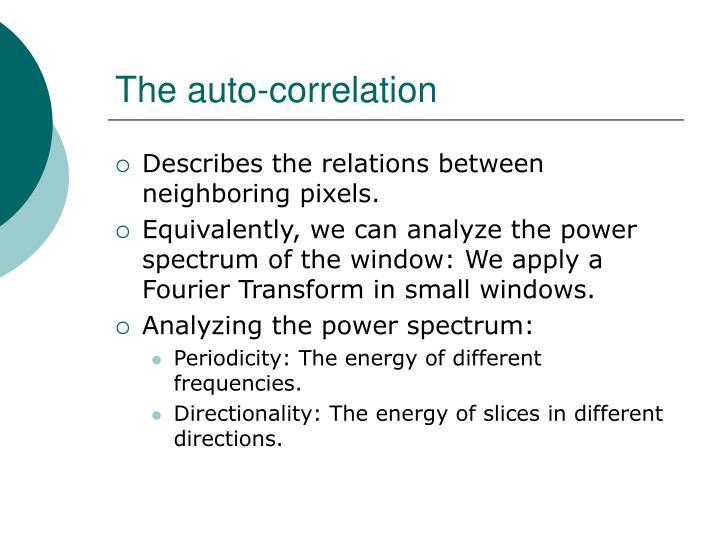 The auto-correlation