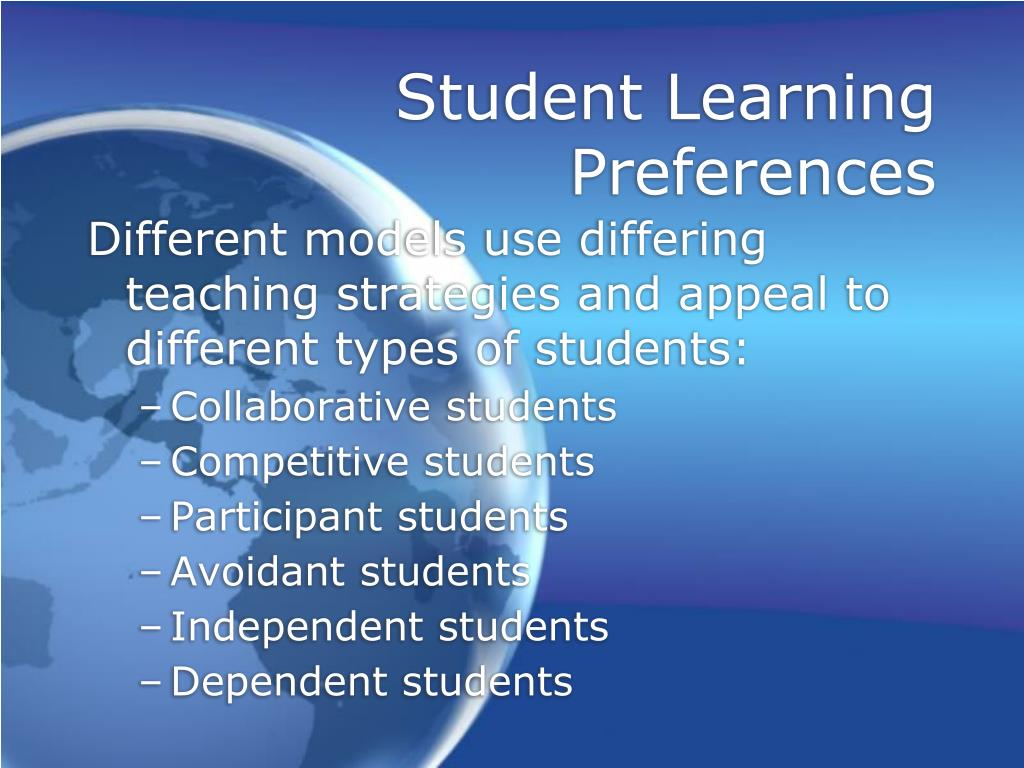 Student Learning Preferences