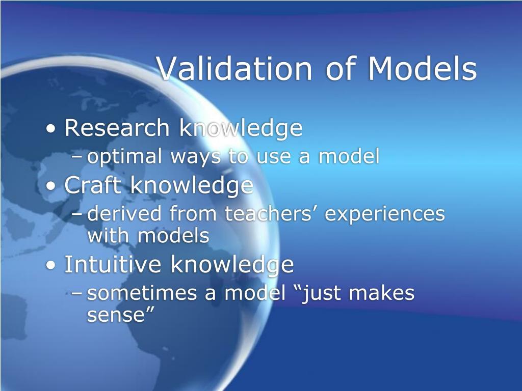 Validation of Models