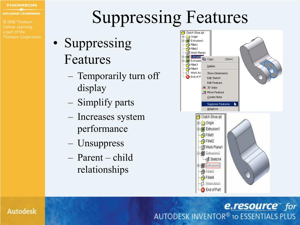 Suppressing Features