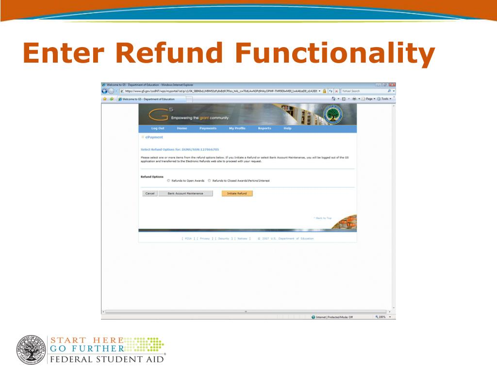 Enter Refund Functionality