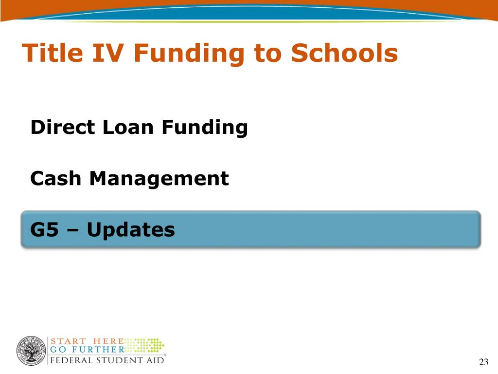 Title IV Funding to Schools