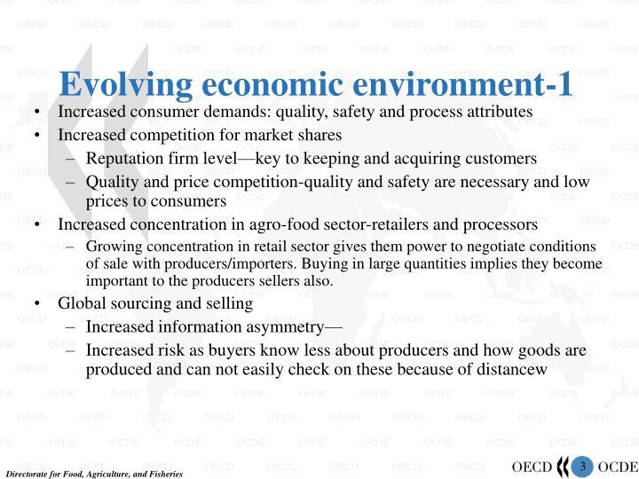 Evolving economic environment 1