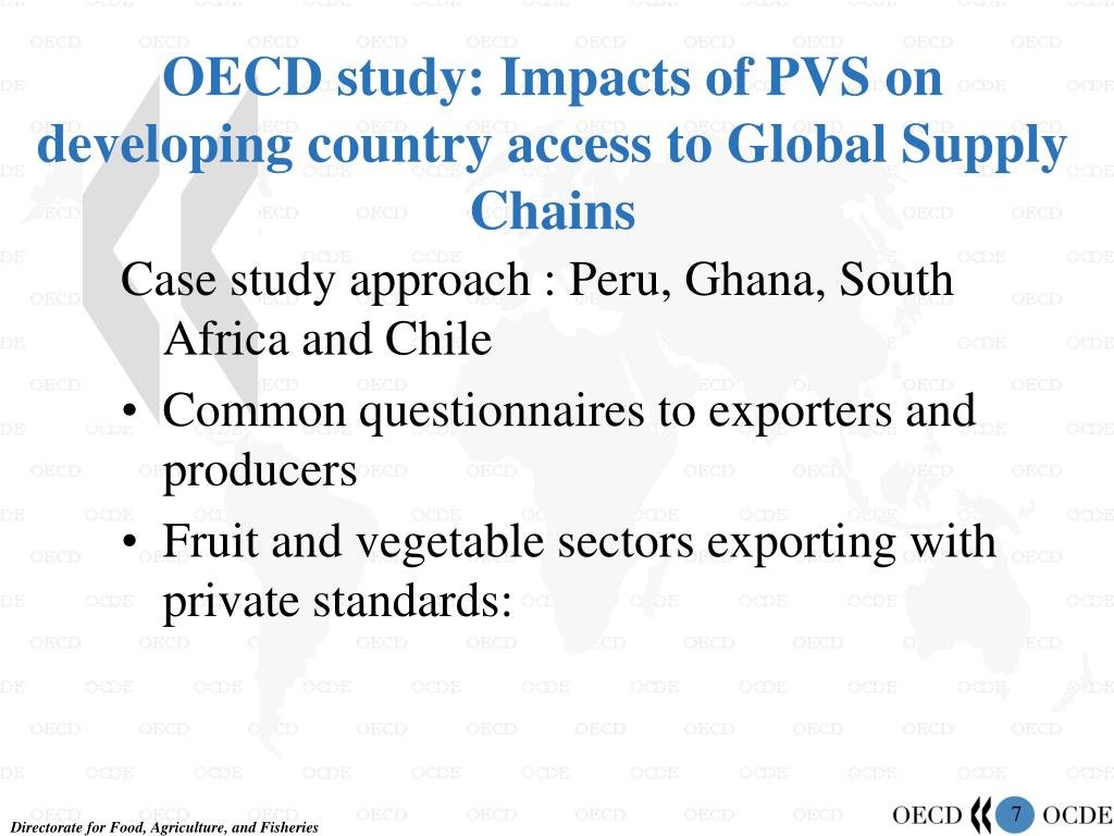 OECD study: Impacts of PVS on developing country access to Global Supply Chains