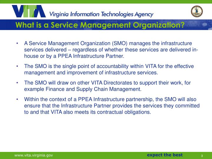 What is a service management organization