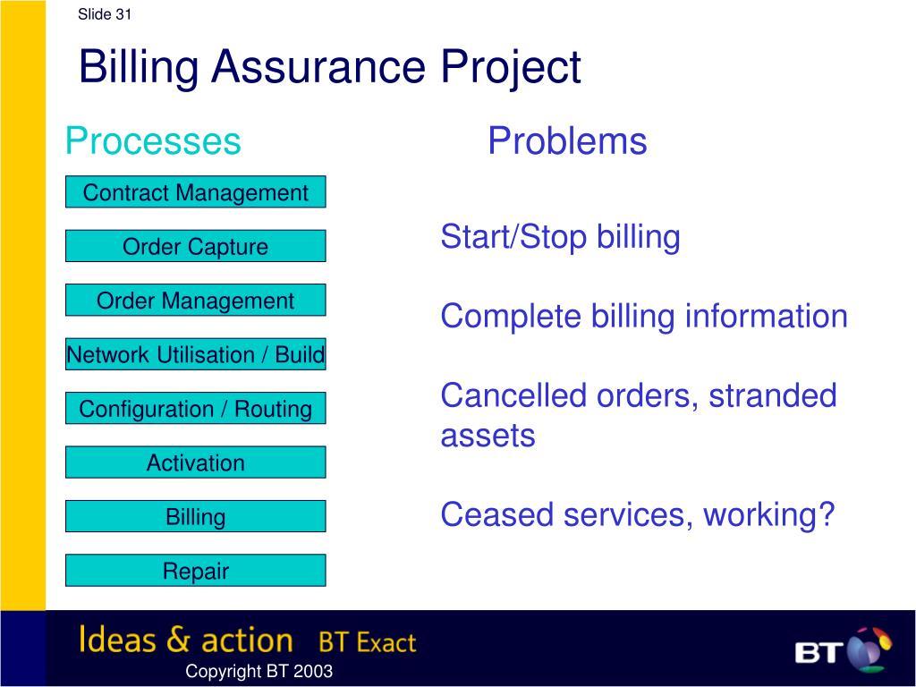 Billing Assurance Project
