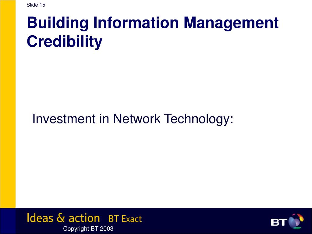 Building Information Management Credibility