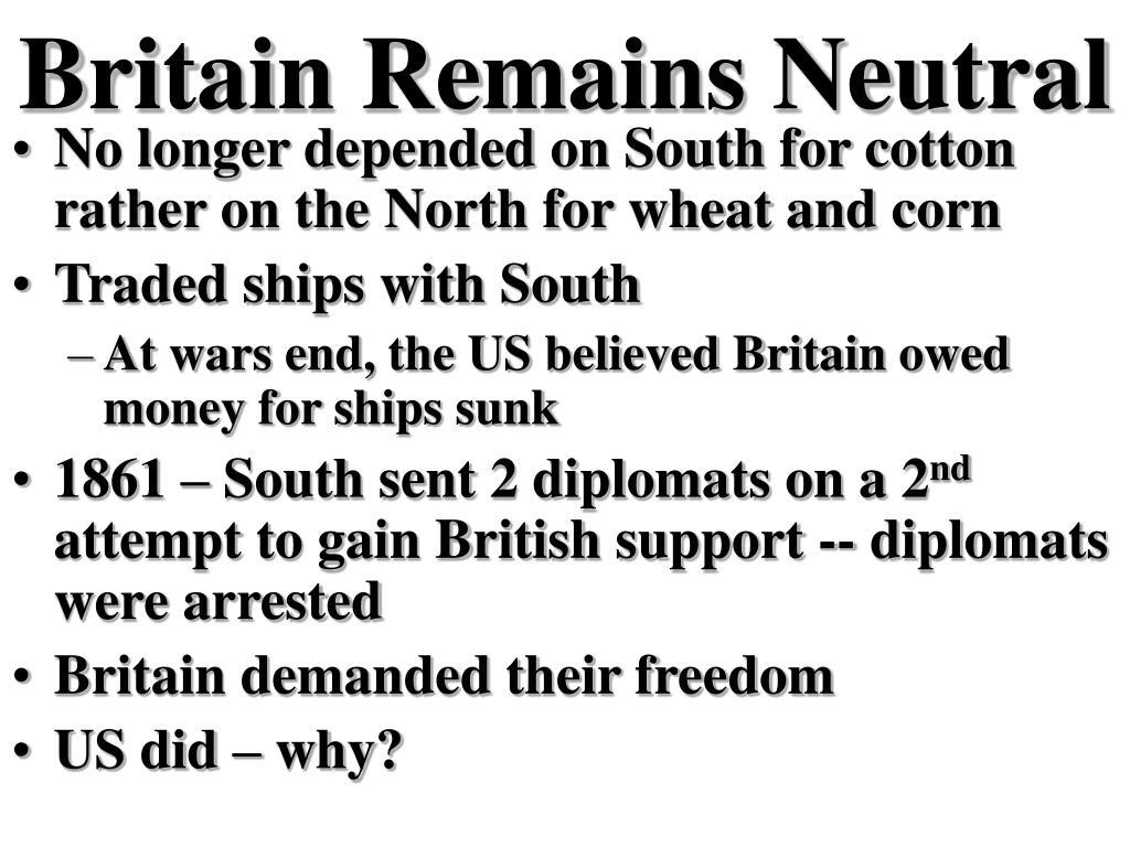 Britain Remains Neutral