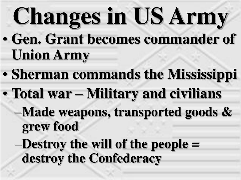 Changes in US Army